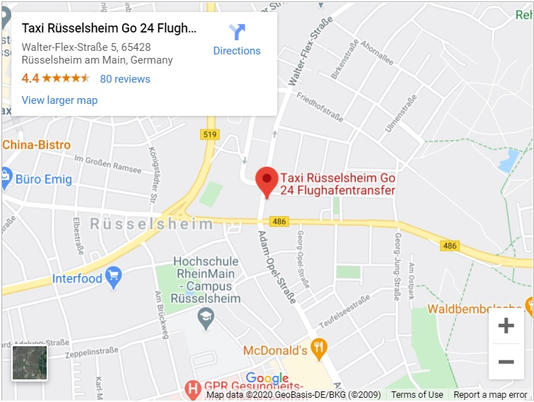 flughafentransfer rüsselsheim